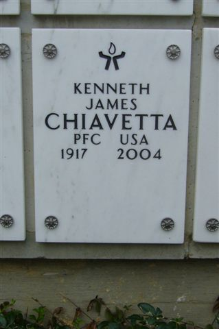 Marker for Kenneth Chiavetta