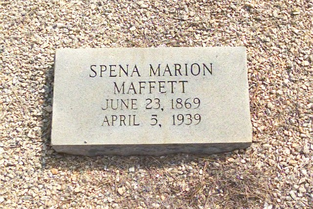 Headstone for Spena Marion Maffett