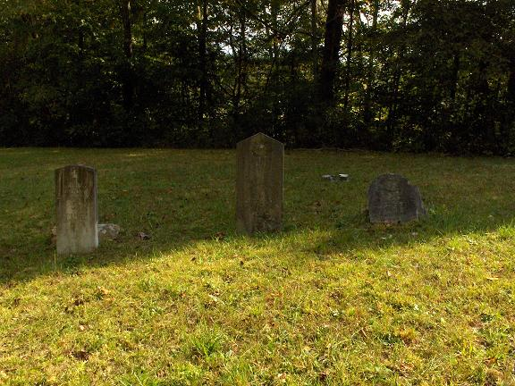 Headstones for William Elliott, William Blackburn Elliott and his wife Margaret Austin Widner
