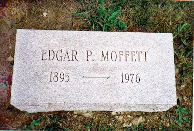 Headstone for Edgar Pennington Moffett