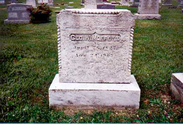 Headstone for George W Moffett