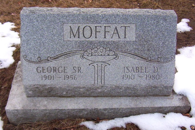 Headstone for George Moffat and Isabel Dodds