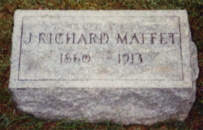 Headstone of James Richard Maffet