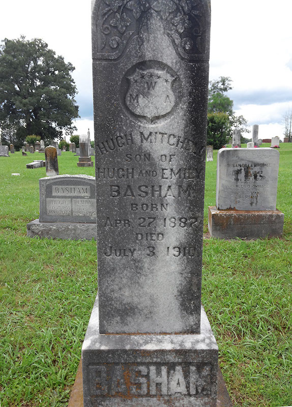 Headstone of Hugh Mitchell Basham