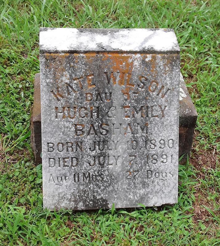 Headstone of Kate Wilson Basham