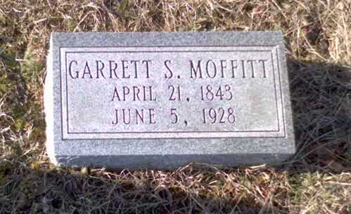 Headstone of Garrett Stanley Moffitt