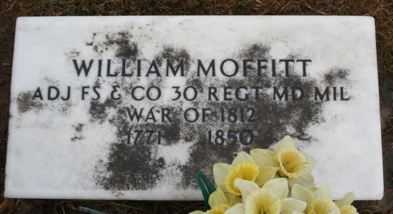 Headstone for William Moffitt/Maffitt