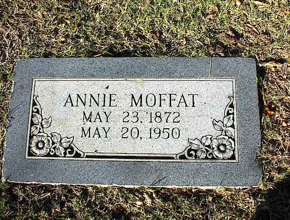 Headstone for Annie Moffat