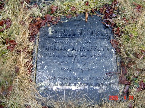 Headstone of Isabel Jane Hart