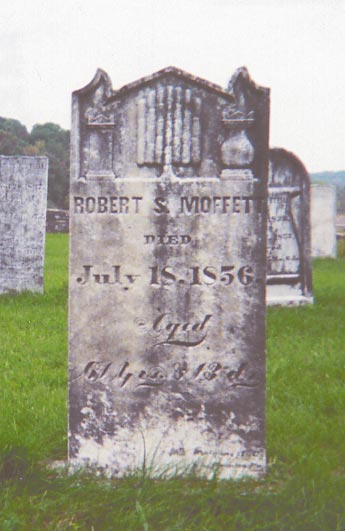 Headstone for Robert S Moffett