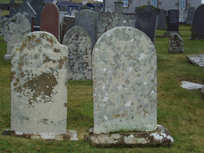 Headstones of Andrew S Moffatt and Thomas Moffat