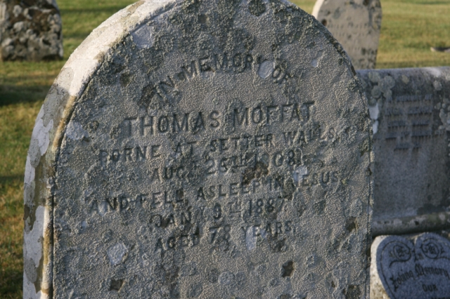 Headstone of Thomas Moffat