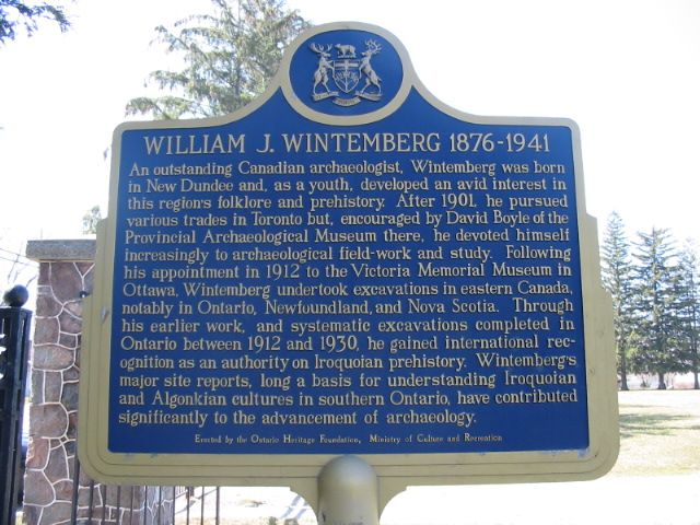 Historic Sign for William J Wintemberg