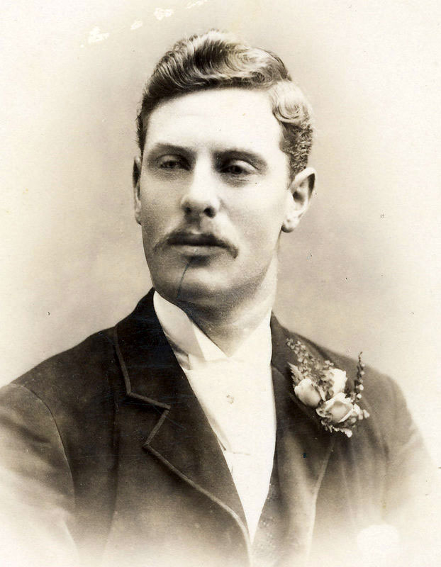 Alfred George Hawkesford on his wedding day