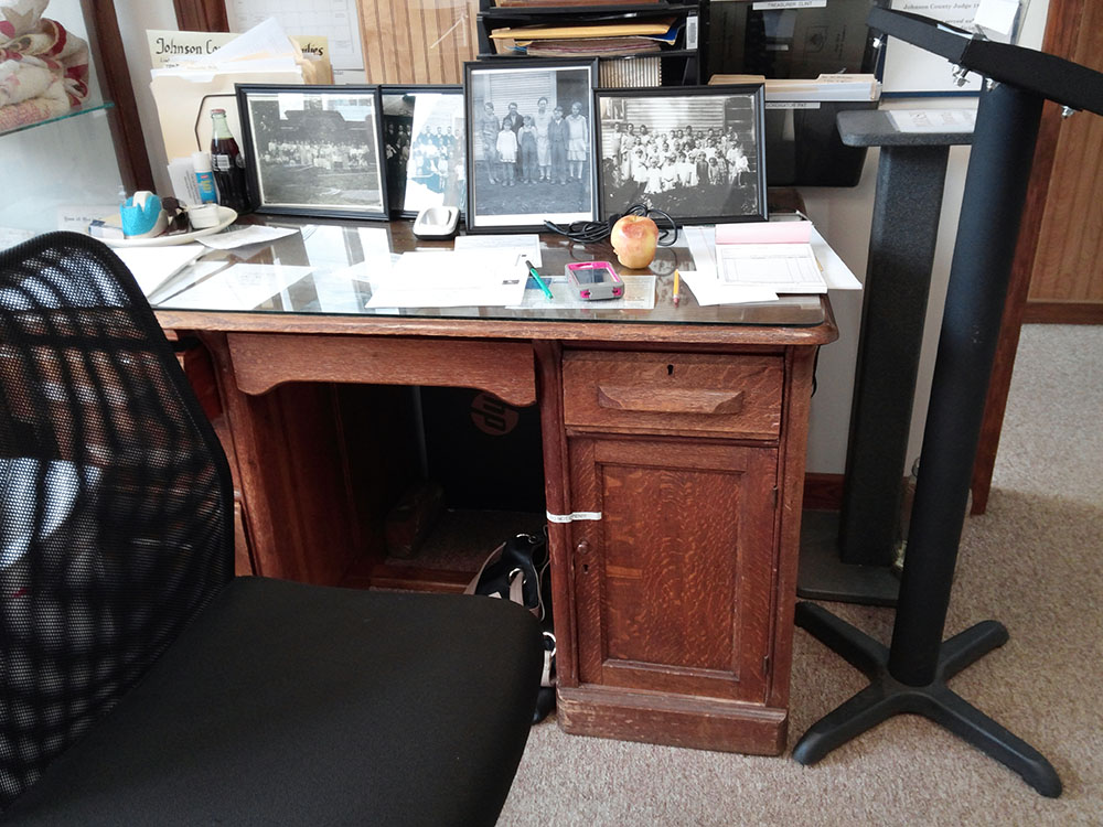 Desk of Judge Hugh Basham