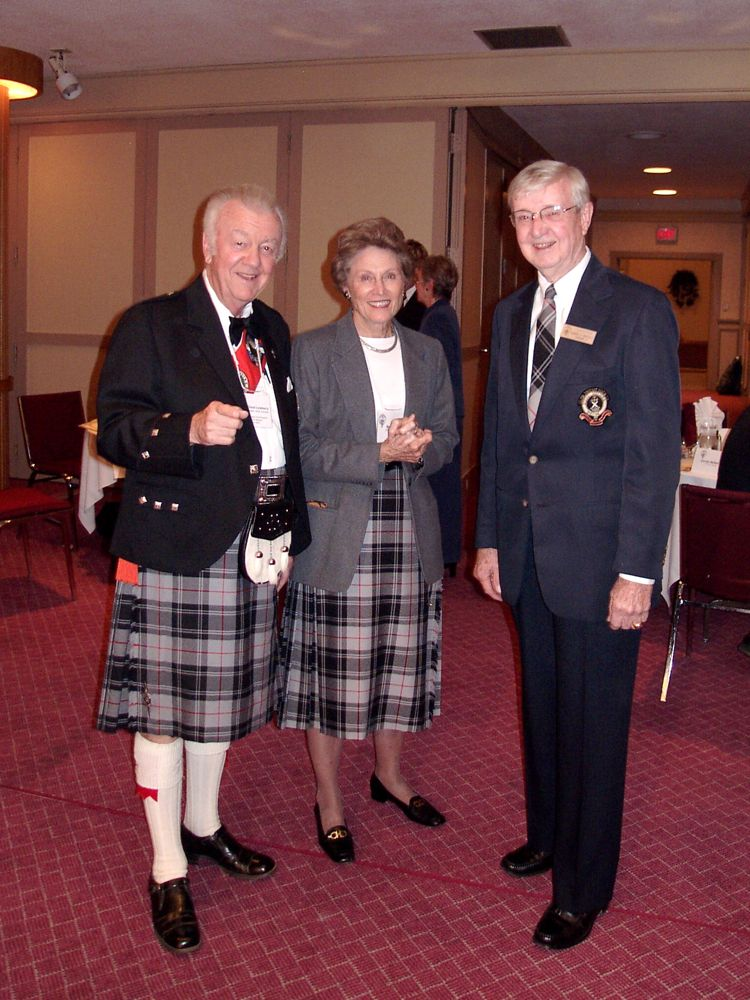 Robert Moffatt with Chuck and Betty Lineberry