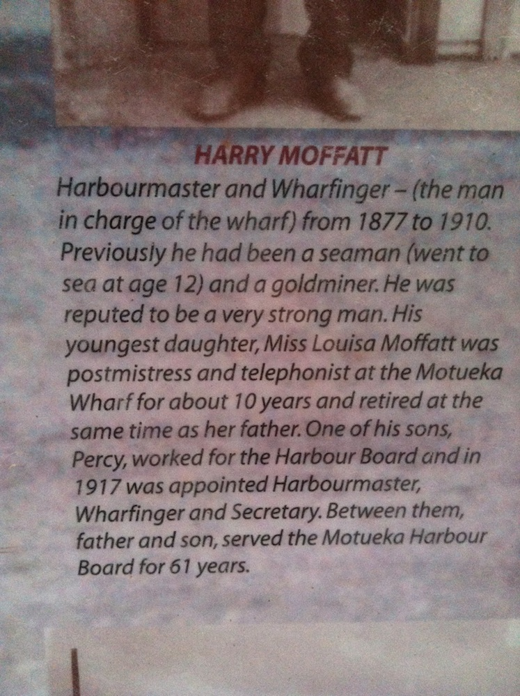 Descriptive part of Sign about Harry Moffatt